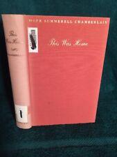 This Was Home by H. Chamberlain North Carolina History 1938 Rare 1st