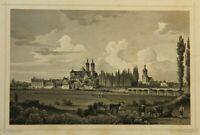 L.THÜMLING(19.Jh) Hist.Stadtansicht von Wurzen bei Leipzig, um 1850, Stahlstich