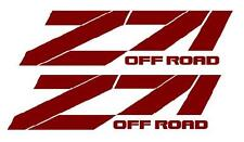 Z71 OFF ROAD Bedside Decals,  Chevy, Chevrolet, GMC, Pair, BURGUNDY color