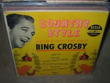 BING CROSBY country style ( country ) 10""