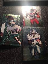 1996 FLEER METAL FOOTBALL CARD LOT-PICK 5 B. SANDERS, E. SMITH, H.O.F. PLAYERS