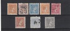1875 sellos serie  Alfonso XII edifil 162 al 169