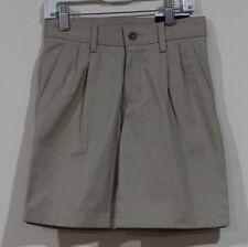 Nwt Chaps Boys Khaki Uniform Adjustable Waist Shorts Size 6 Reg