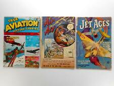 GOLDEN AGE AVIATION LOT AIR ACE, JET ACES, TRUE AVIATION, LOWER GRADE COMPLETE