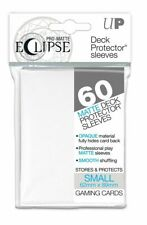 Ultra PRO Eclipse SMALL White Pro-Matte Deck Protector Sleeves Card 60ct 62x89mm