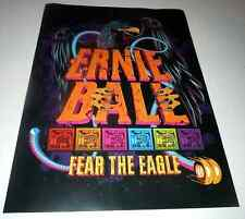 Ernie Ball~Promo Poster~13x18~Nm Condition~Fear The Eagle