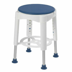 Deluxe Bath Seat Shower Stool Adjustable Legs Non Slip Feet Safe Bathing