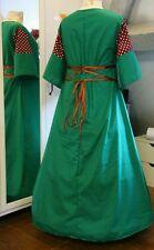 Mittelalter Kleid Gewand LARP Gothic grün weinrot  Größe  46  48 50 Gothic