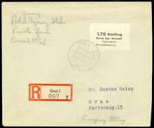 Edw1949Sell : Poland Scarce 1948 Registered cover from Postal Strike Period.