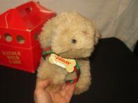 Hallmark Jingles Plush Toy Dog w/ Puppy Tote Christmas (D323)