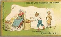 Chromos.chocolat Guerin-Boutron.expression Familiere.n° 276.DORMIR A Eye