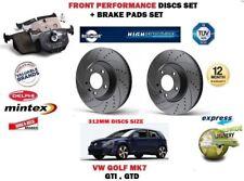 für VW Golf Mk7 2.0 GTI GTD 2013- > Vorderseite Leistung BREMSSCHEIBE SATZ +