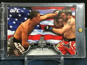 2012 Topps UFC Bloodlines US Flag #6 Nate Diaz 131/188 RC Debut Rookie RARE!