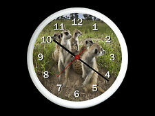 Meercats Wall Clock Can be Personalised