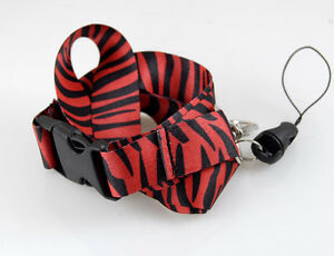 """Red and Black Zebra Print Design 15"""" lanyard-Red Zebra Lanyard-New With Tags!!!"""