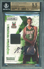 2009-10 Rookies and Stars Brandon Jennings RC Auto Jersey #/25 BGS 9.5