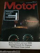 MOTOR MAGAZINE - VW PASSAT COUPE TESTED - SEPT 29 1973