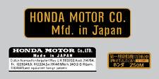 HONDA Z50M MONKEY  / FRAME DECAL SET REPRO