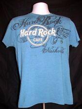COOL HARD ROCK CAFE NASHVILLE  BLUE COLOR SOUVENIR T-SHIRT SIZE MEDIUM T-SHIRT