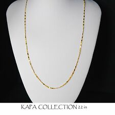 Gold Chain Men Womens 22 inch 18ct GoldPlated  Necklace 2mm thick Curb Chain  A3