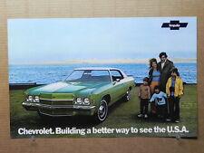"True Vintage Car Poster Dealer AD 1972 CHEVROLET IMPALA  17"" x 11"""