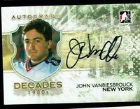 2010 ITG Decades 1980s AUTOGRAPH John Vanbiesbrouck New York Rangers Goalie