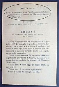 MARCIANISE(CE)-REGIO DECRETO X APPLICAZIONE DELLA TASSA SUL BESTIAME-2729