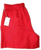 """A New Day Womens XL Red 5"""" Inseam Casual Pull Up Linen Rayon Shorts 4 pockets"""