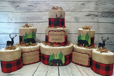 3 Tier Diaper Cake and sets - Adventure Awaits Woodland Theme - Buffalo Bear