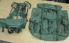Used Complete USGI OD Green LC-1 Large Alice Field Pack With Frame,Kidney,Straps