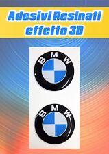 2 Adesivi logo BMW Resinati effetto 3D