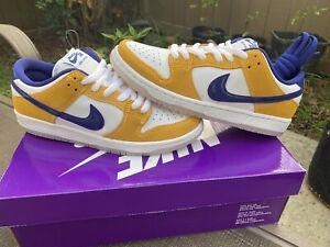 MIXMATCHED 7/7.5 2020 DS Nike SB Dunk Low Laser Orange Size 7 BQ6817-800 Lakers