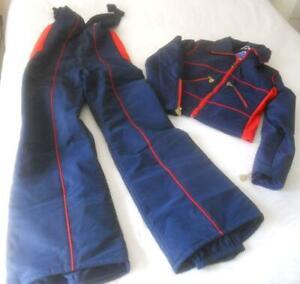 NWOT FAB VINTAGE 70S MERIT 2 PC SKI SUIT FLARED LEG PANTS JACKET 12