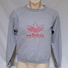 VTG Adidas Sweatshirt 90's Trefoil Logo Spell Out 80's Run DMC Olympics Medium
