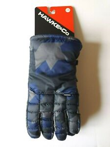 Hawke & Co Mid Weight Field Nylon Gloves Mens Large / XL Camo Blue $42