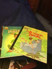 A Little Golden Book - Walt Disney's The Jungle Book And Peter Pan