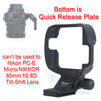 CNC All-metal Lens Holder Tripod Mount Ring for Nikon PC Micro NIKKOR 85mm F2.8D