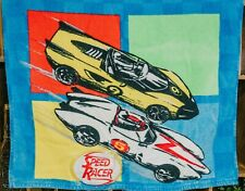 ✅ VINTAGE - Speed Racer Beach Towel with light up plastic logo