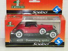 SOLIDO - DUESENBERG SPIDER ROUGE
