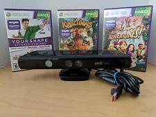 Microsoft Xbox 360 Kinect Motion Sensor with (3) Games.
