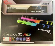 CL14 DDR4-3600 32GB 16GBx2 G.Skill Trident Z Memory Dual Rank RGB F4-3600C14D