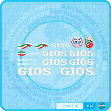 Gios Torino - Bicycle Decals Transfers Stickers - Set 5