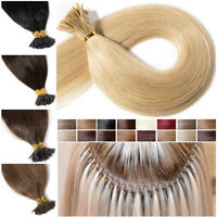 Micro Keratin I Tip 100% Remy Human Hair Extensions Loop Ring 150Pcs Bonding USA