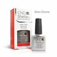 CND Shellac Power Nail Polish SILVER CHROME COLOR (NIB)