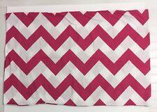 Pottery Barn Teen Single Standard Pillow Case Pink White Chevron 100% Cotton PB