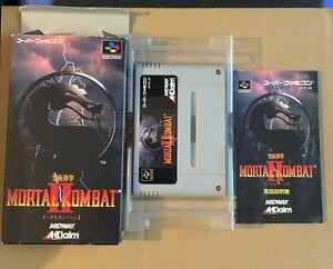Mortal Kombat II Super Famicom Japan Midway Acclaim SNES