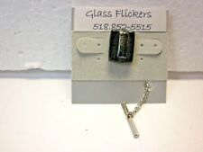 Fused glass tie tack, tac or tie clip,clasp