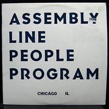 Assembly Line People Program - S/T EP Mint- CI 003 Private Chicago Rock Vinyl