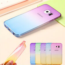 Soft TPU Silicon Gel Gradient Case Cover for iPhone Samsung Oneplus Protect Skin