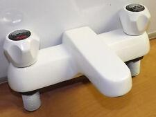 Twyford Bathroom White Amazon Two Handled Bath Mixer Filler Tap